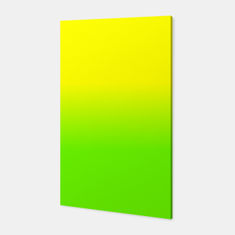 Neon Lemon and Lime Ombré  Shade Color Fade  Canvas imagen en miniatura