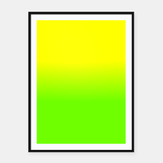 Neon Lemon and Lime Ombré  Shade Color Fade  Framed poster imagen en miniatura