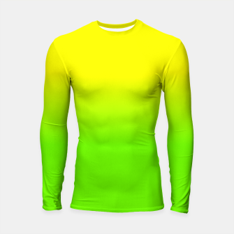Neon Lemon and Lime Ombré  Shade Color Fade  Longsleeve rashguard  imagen en miniatura
