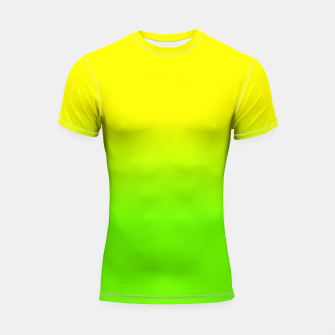 Neon Lemon and Lime Ombré  Shade Color Fade  Shortsleeve rashguard imagen en miniatura