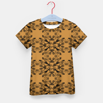 Thumbnail image of KIDS t-shirt gold with mandalas BLACKs, Live Heroes