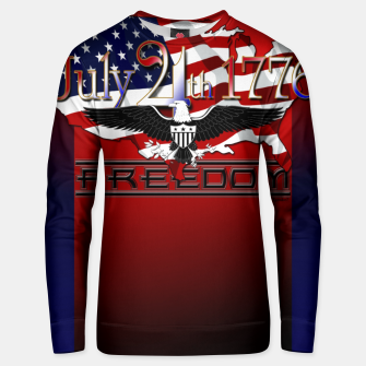 Thumbnail image of July 4th 1776 Freedom Cotton sweater, Live Heroes