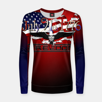Thumbnail image of July 4th 1776 Freedom Woman cotton sweater, Live Heroes