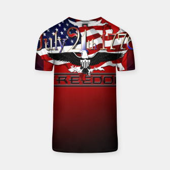Thumbnail image of July 4th 1776 Freedom T-shirt, Live Heroes