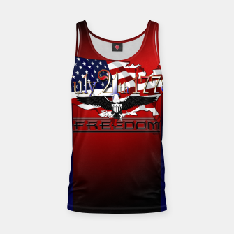 Thumbnail image of July 4th 1776 Freedom Tank Top, Live Heroes
