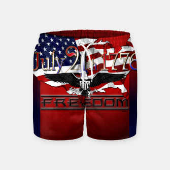 Thumbnail image of July 4th 1776 Freedom Swim Shorts, Live Heroes