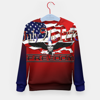 Thumbnail image of July 4th 1776 Freedom Kid's sweater, Live Heroes
