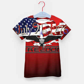 Thumbnail image of July 4th 1776 Freedom Kid's t-shirt, Live Heroes