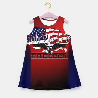 Thumbnail image of July 4th 1776 Freedom Girl's summer dress, Live Heroes