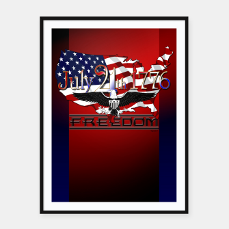 Thumbnail image of July 4th 1776 Freedom Framed poster, Live Heroes