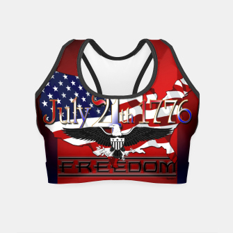 Thumbnail image of July 4th 1776 Freedom Crop Top, Live Heroes