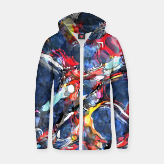 Thumbnail image of The Creation Cotton zip up hoodie, Live Heroes