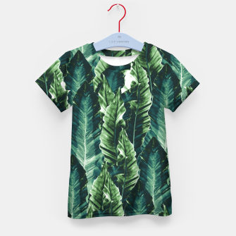 Thumbnail image of Green Vibes #1 #tropical #foliage #decor #art T-Shirt für kinder, Live Heroes