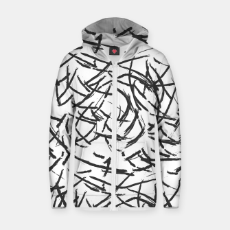 Thumbnail image of Falling Lines Cotton zip up hoodie, Live Heroes