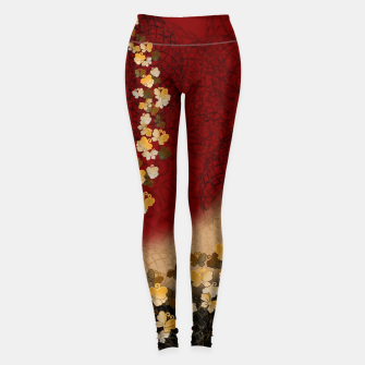 Miniatur Japanese style butterfly design Leggings, Live Heroes
