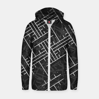Thumbnail image of White Maze Cotton zip up hoodie, Live Heroes