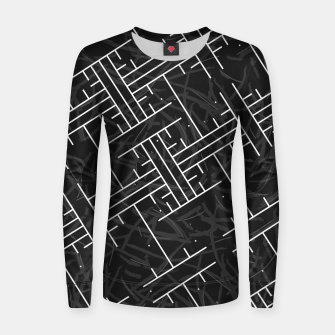 Thumbnail image of White Maze Woman cotton sweater, Live Heroes