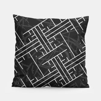 Thumbnail image of White Maze Pillow, Live Heroes