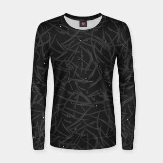 Thumbnail image of Falling Lines Black Edition Woman cotton sweater, Live Heroes