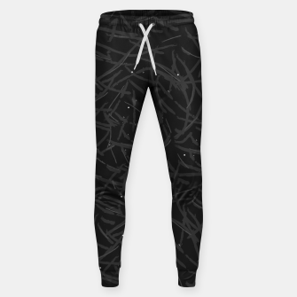 Thumbnail image of Falling Lines Black Edition Cotton sweatpants, Live Heroes