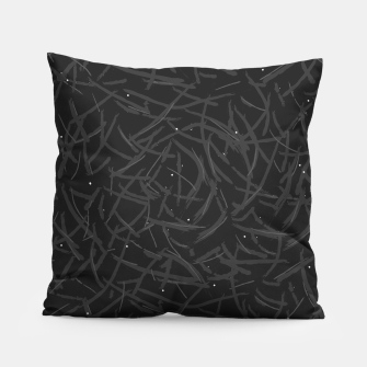Thumbnail image of Falling Lines Black Edition Pillow, Live Heroes