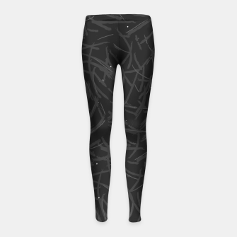 Thumbnail image of Falling Lines Black Edition Girl's leggings, Live Heroes