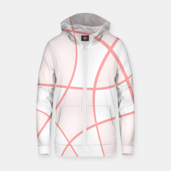 Imagen en miniatura de Abstract pattern - pink. Cotton zip up hoodie, Live Heroes