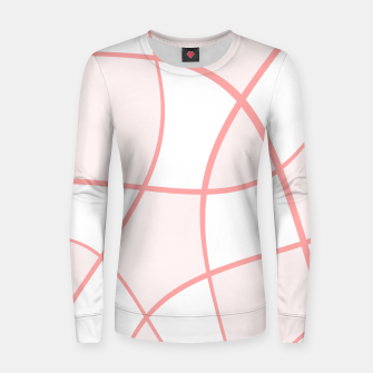 Imagen en miniatura de Abstract pattern - pink. Woman cotton sweater, Live Heroes