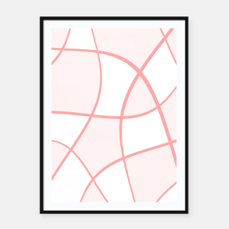 Miniaturka Abstract pattern - pink. Framed poster, Live Heroes