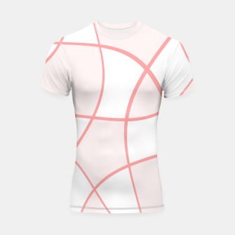 Miniatur Abstract pattern - pink. Shortsleeve rashguard, Live Heroes