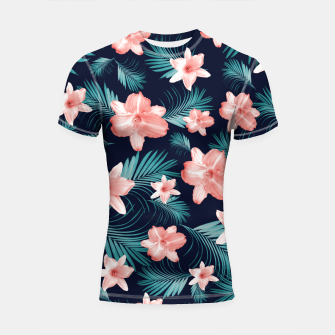 Miniatur Tropical Flowers Palm Leaves Finesse #1 #tropical #decor #art  Shortsleeve rashguard, Live Heroes