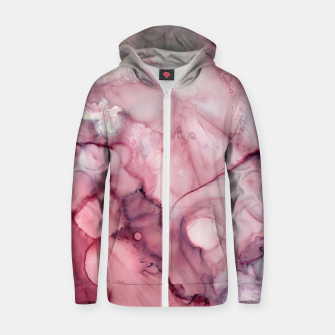 Thumbnail image of Liquid Mauve Abstract Cotton zip up hoodie, Live Heroes