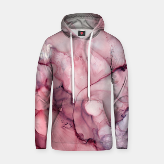 Thumbnail image of Liquid Mauve Abstract Cotton hoodie, Live Heroes