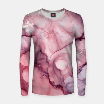 Thumbnail image of Liquid Mauve Abstract Woman cotton sweater, Live Heroes