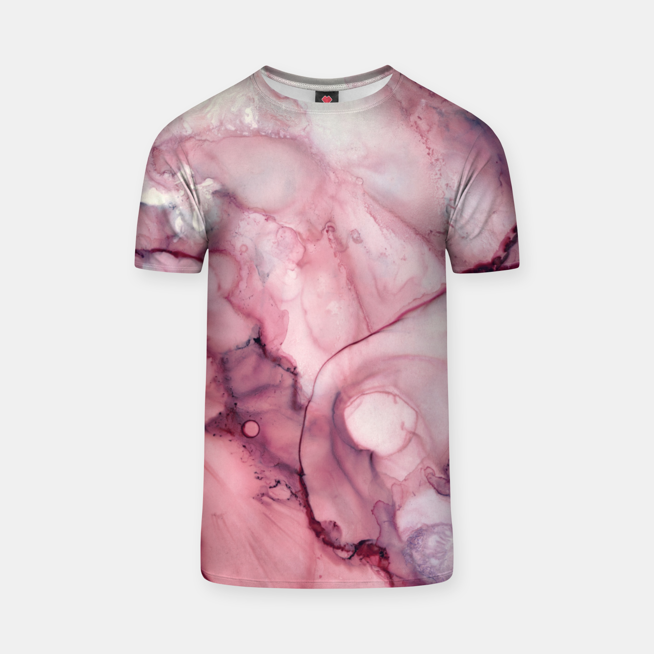 Image of Liquid Mauve Abstract T-shirt - Live Heroes