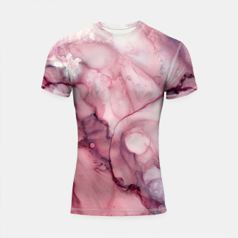 Miniatur Liquid Mauve Abstract Shortsleeve rashguard, Live Heroes