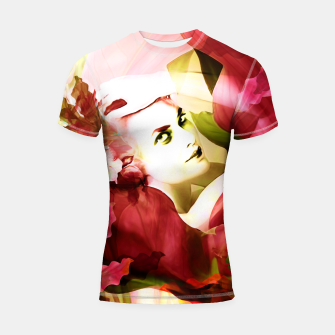 "Miniatur ""Exotic Woman Tropical Jungle"" Shortsleeve rashguard, Live Heroes"