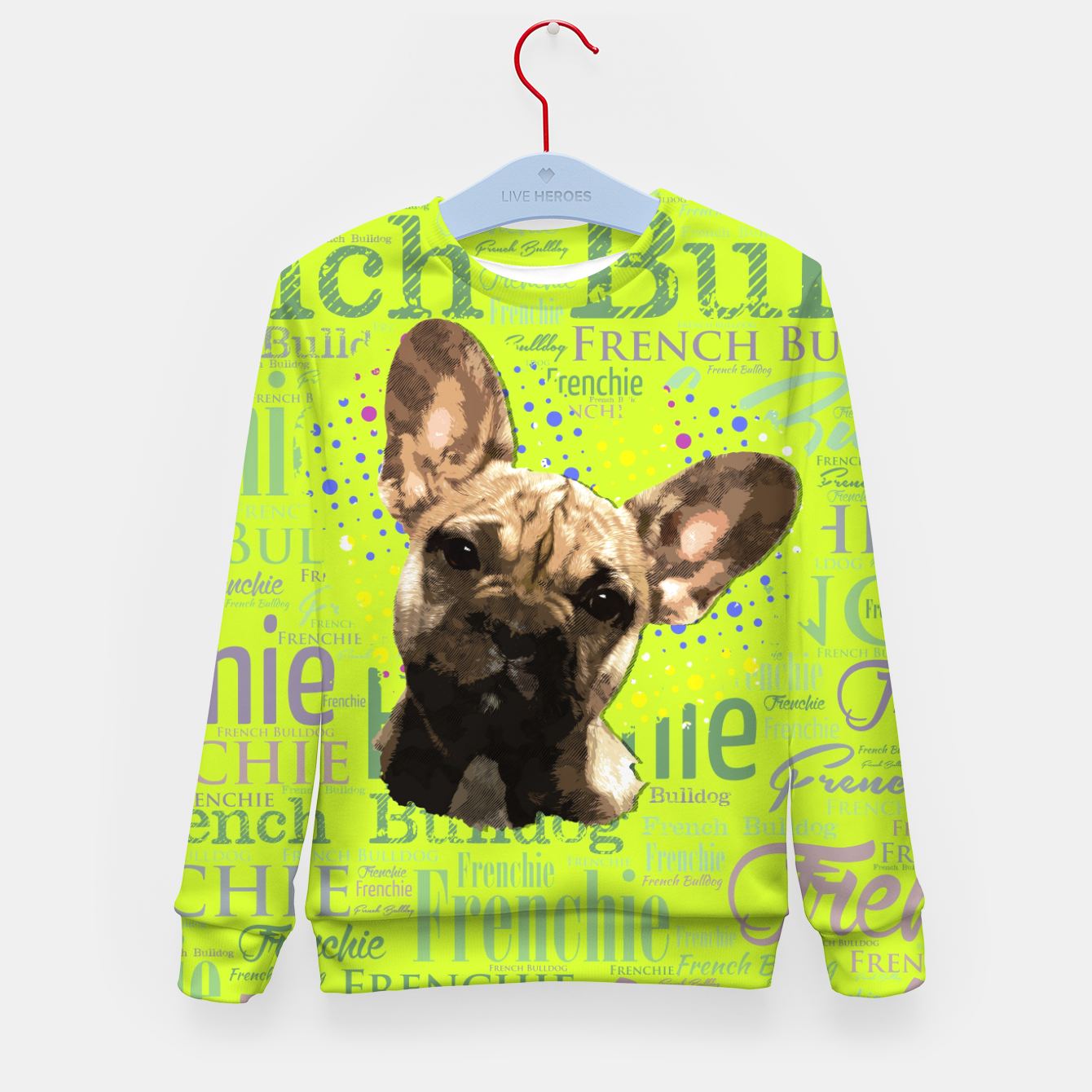 Image of French Bulldog Puppy Kid's sweater - Live Heroes