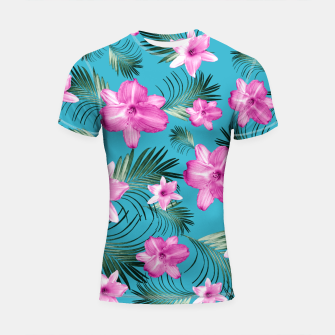 Miniatur Tropical Flowers Palm Leaves Finesse #3 #tropical #decor #art  Shortsleeve rashguard, Live Heroes