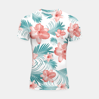 Miniatur Tropical Flowers Palm Leaves Finesse #2 #tropical #decor #art  Shortsleeve rashguard, Live Heroes