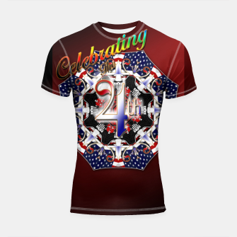Miniatur Celebrating The 4th Shortsleeve rashguard, Live Heroes