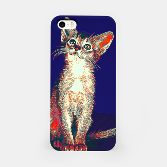 Miniatur gxp abyssinian cat abessinier katze kitten vector art horror blue iPhone-Hülle, Live Heroes