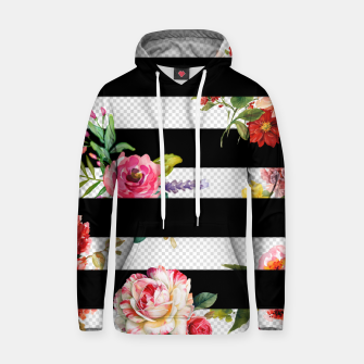 Thumbnail image of 3d flowers Cotton hoodie, Live Heroes