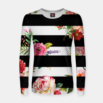 Thumbnail image of 3d flowers Woman cotton sweater, Live Heroes