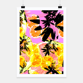Thumbnail image of Leafy Orange Print Poster, Live Heroes