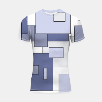 Miniatur Abstract geometric pattern - gray. Shortsleeve rashguard, Live Heroes