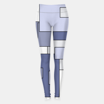 Miniatur Abstract geometric pattern - gray. Leggings, Live Heroes