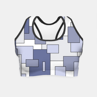 Miniatur Abstract geometric pattern - gray. Crop Top, Live Heroes