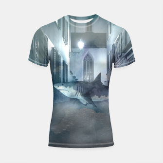 Miniatur Night Shark Shortsleeve rashguard, Live Heroes