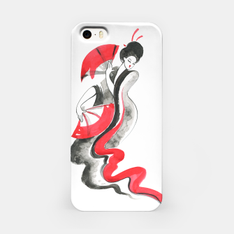 Thumbnail image of Geisha Japanese Watercolor painting iPhone Case, Live Heroes